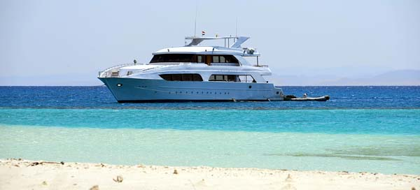 Charter Yacht at Anchor in Tropical Waters for Yacht Crew
